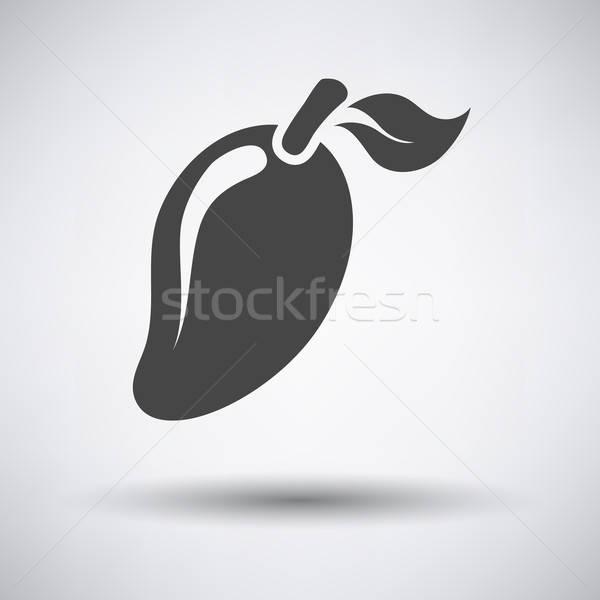 Mango icon on gray background Stock photo © angelp
