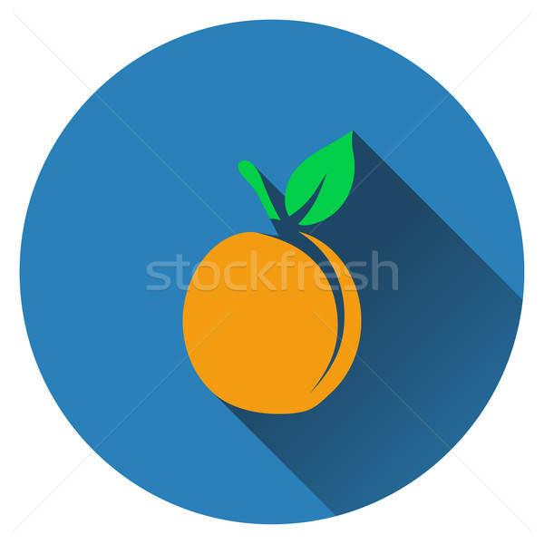 Peach icon Stock photo © angelp