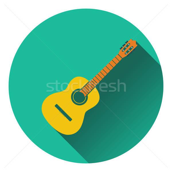 икона музыку стороны гитаре дизайна Сток-фото © angelp