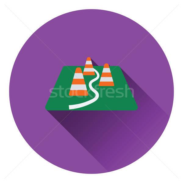 Icon of football training cones Stock photo © angelp