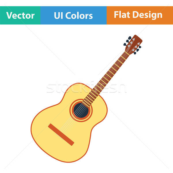 Acoustic guitar icon Stock photo © angelp