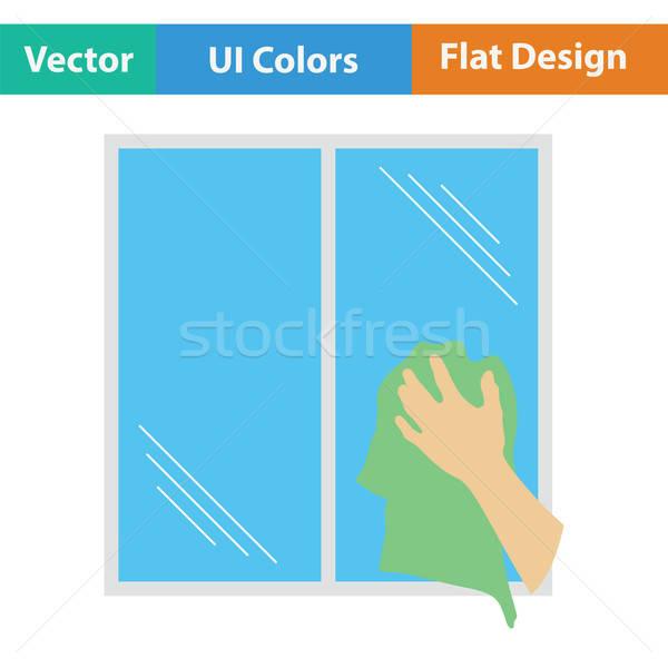 Kéz ablak ikon szín terv víz Stock fotó © angelp