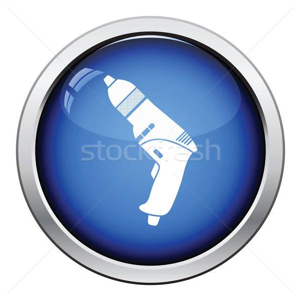 икона электрических дрель кнопки дизайна Сток-фото © angelp