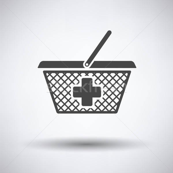 Pharmacy shopping cart icon Stock photo © angelp