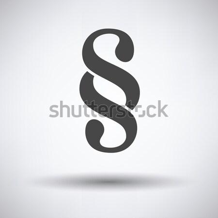 Parágrafo símbolo ícone cinza negócio papel Foto stock © angelp