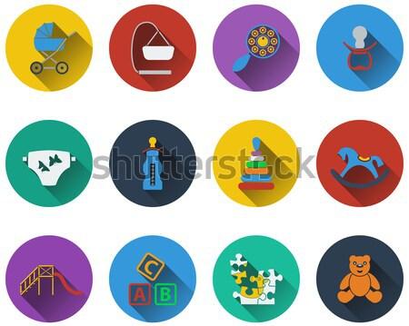 Baby icon set Stock photo © angelp