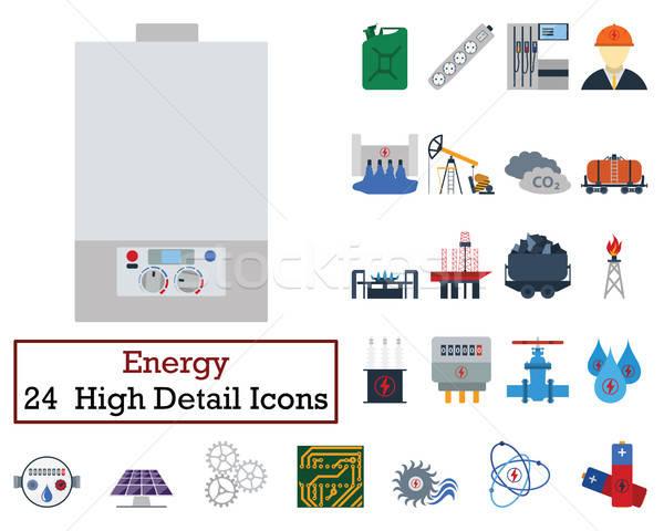 Set of 24 Energy Icons Stock photo © angelp