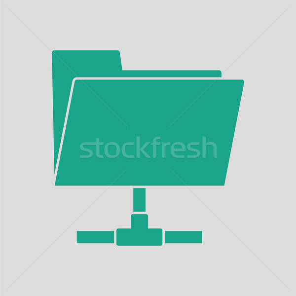 Shared folder icon Stock photo © angelp