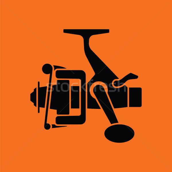 アイコン 釣り リール オレンジ 黒 スポーツ ストックフォト © angelp