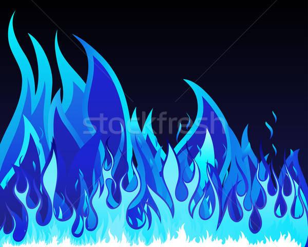 Ognia piekło wektora projektu podpisania czarny Zdjęcia stock © angelp