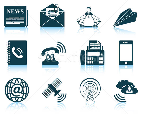 Set of communication icons Stock photo © angelp