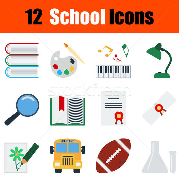 Flat design education icon set Stock photo © angelp