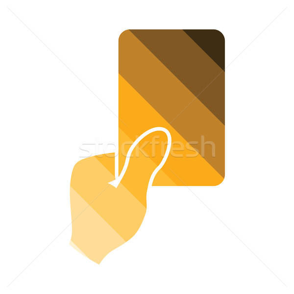 Soccer referee hand with card  icon Stock photo © angelp