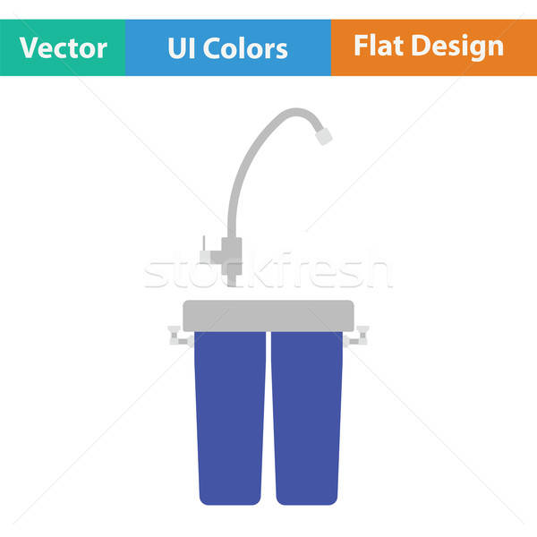 Water filter icon Stock photo © angelp