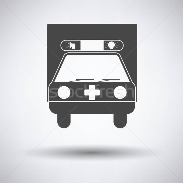 Ambulance auto icon grijs arts medische Stockfoto © angelp