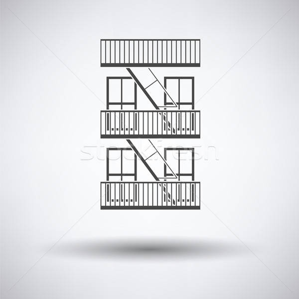 Emergency fire ladder icon Stock photo © angelp
