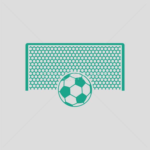 サッカー ゲート ボール ペナルティ ポイント アイコン ストックフォト © angelp