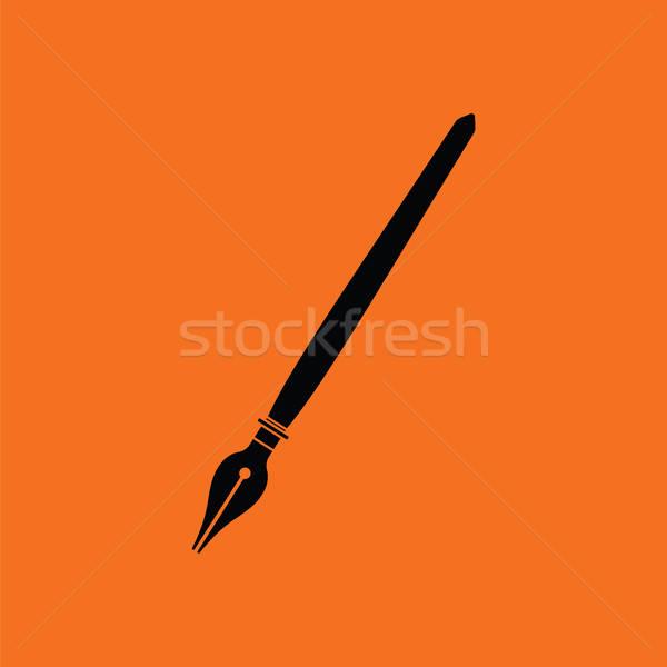 авторучка икона оранжевый черный служба школы Сток-фото © angelp
