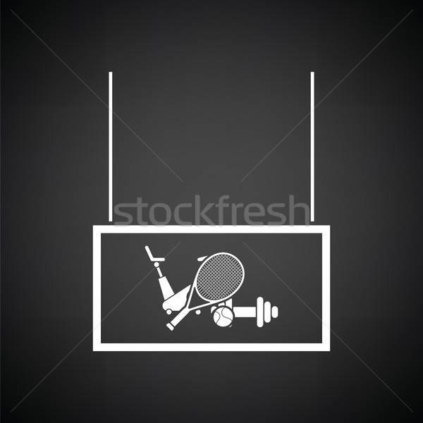 спорт товары рынке отдел икона черно белые Сток-фото © angelp
