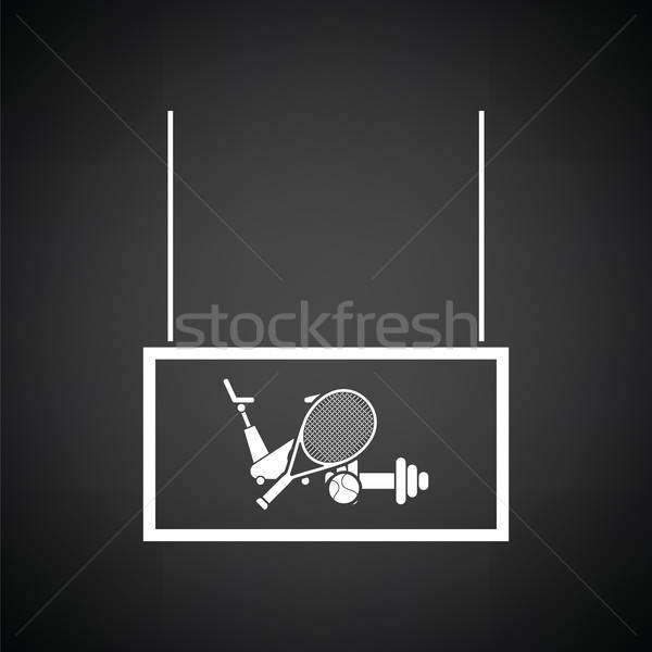 Deporte mercado departamento icono blanco negro Foto stock © angelp
