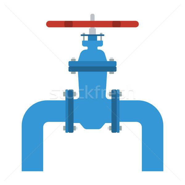 Icône pipe vanne couleur design affaires Photo stock © angelp