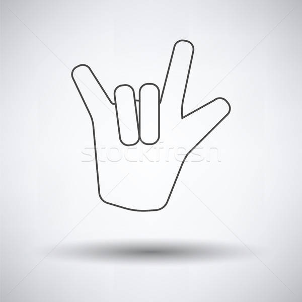 Rock hand icon Stock photo © angelp