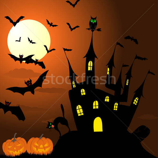 Открытки на хэллоуин рисунок 1