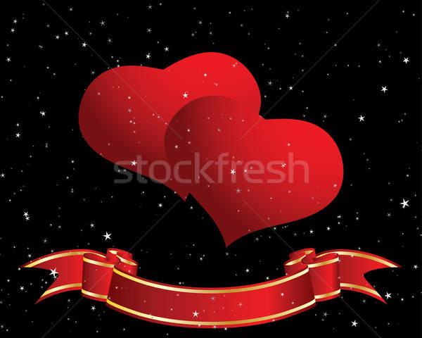 バレンタイン 日 グリーティングカード 心 空 結婚式 ストックフォト © angelp