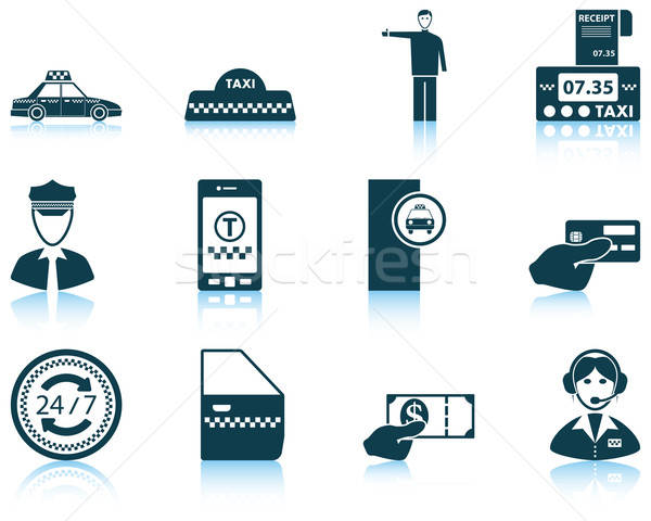 Set of Taxi icons Stock photo © angelp