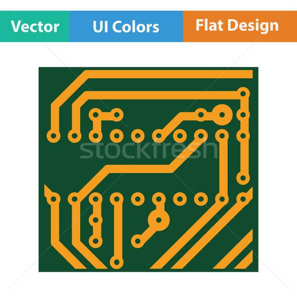 Circuit icône couleur design technologie science Photo stock © angelp