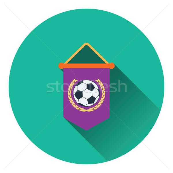 Football pennant icon Stock photo © angelp