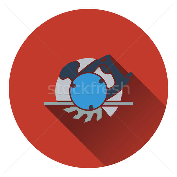 Icon of circular saw Stock photo © angelp