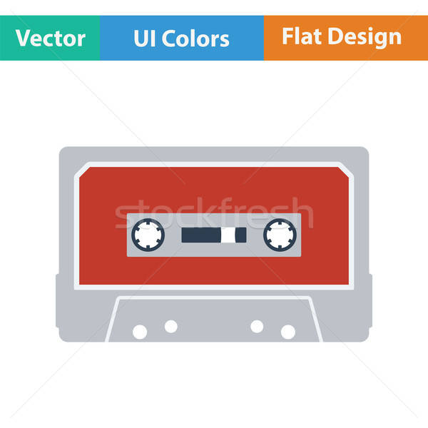 Audio cassette  icon Stock photo © angelp