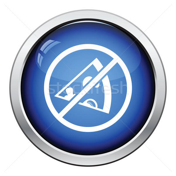 Prohibited pizza icon Stock photo © angelp
