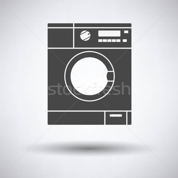 Pralka ikona szary wody domu domu Zdjęcia stock © angelp