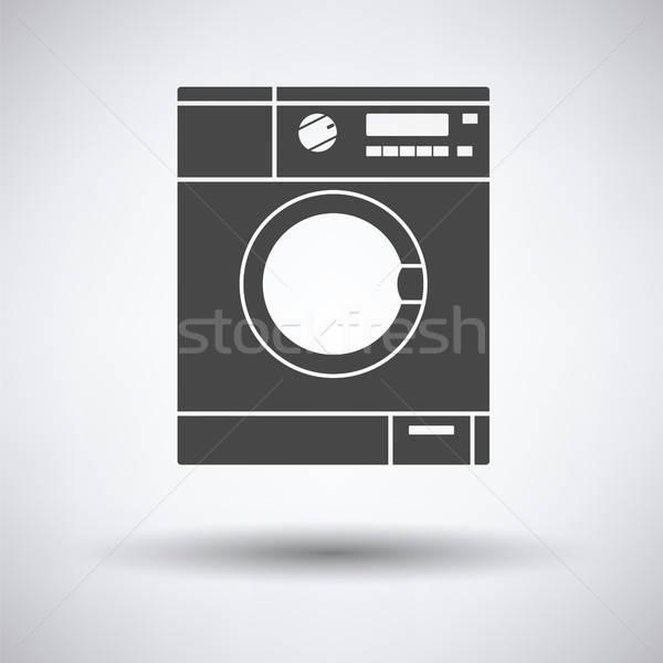 çamaşır makinesi ikon gri su ev ev Stok fotoğraf © angelp
