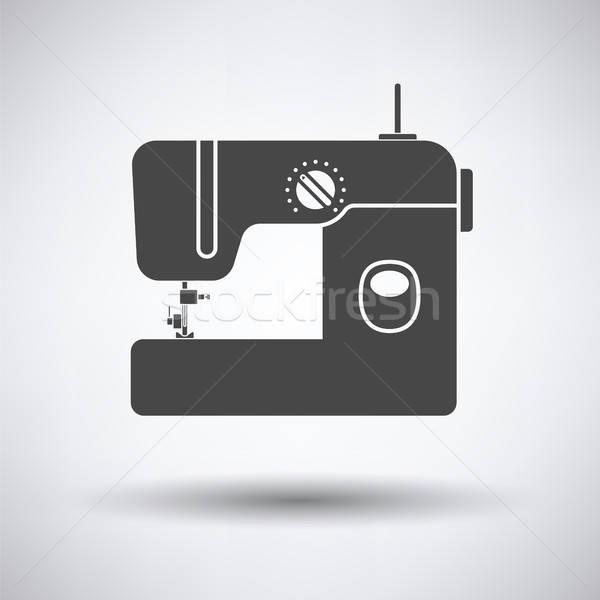 современных швейные машины икона серый моде домой Сток-фото © angelp