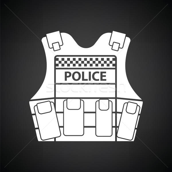 Police vest icon Stock photo © angelp