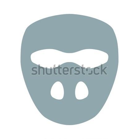 クリケット マスク アイコン 色 デザイン スポーツ ストックフォト © angelp