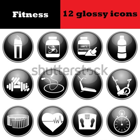 Set of medical glossy icons Stock photo © angelp