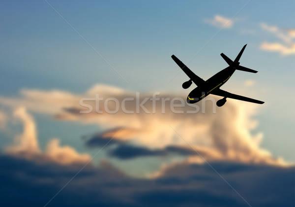 Plane in Sky Stock photo © angelp