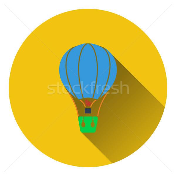Balonem ikona projektu tle pomarańczowy podróży Zdjęcia stock © angelp