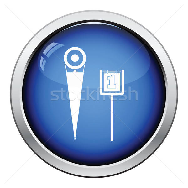 American football sideline markers icon Stock photo © angelp