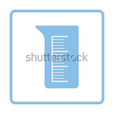 Ikona chemia zlewka przycisk projektu Zdjęcia stock © angelp