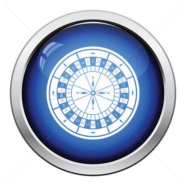Roleta ícone botão projeto tabela Foto stock © angelp