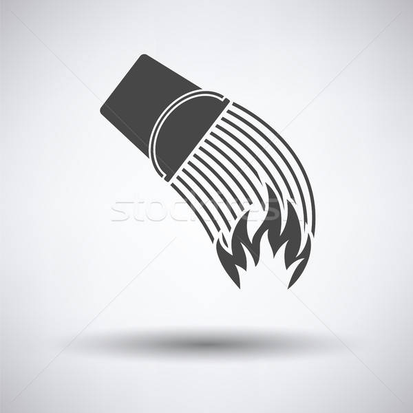 Fire bucket icon Stock photo © angelp