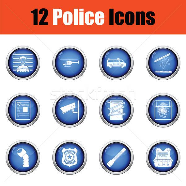 Set of police icons.  Stock photo © angelp