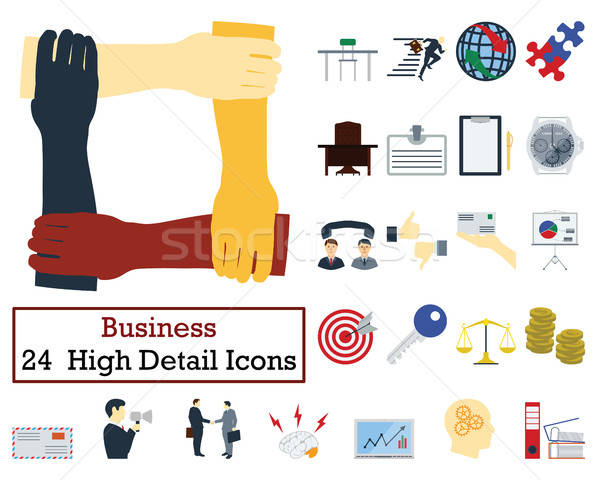 Set of 24 Business Icons Stock photo © angelp