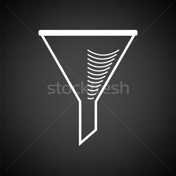Icon of chemistry filler cone Stock photo © angelp
