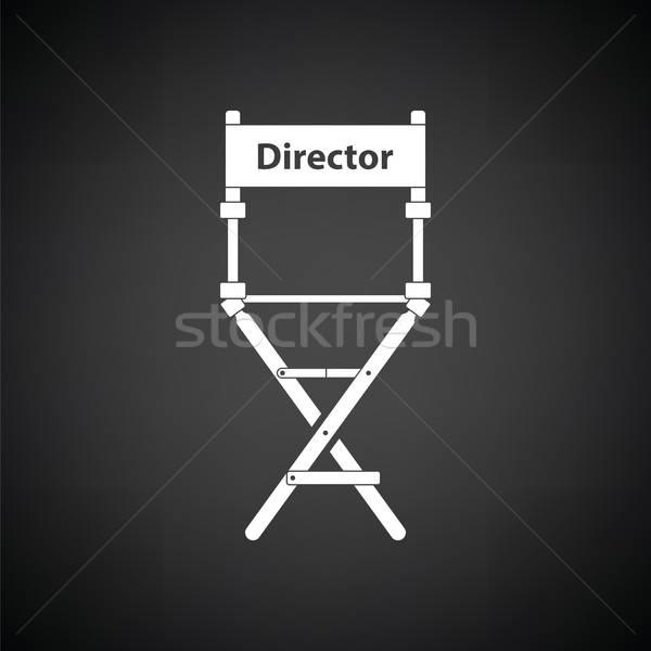 Director silla icono blanco negro película signo Foto stock © angelp